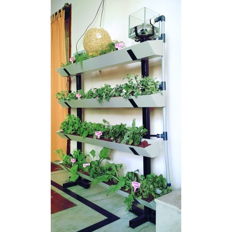 Vertical Garden 4 Row Setup