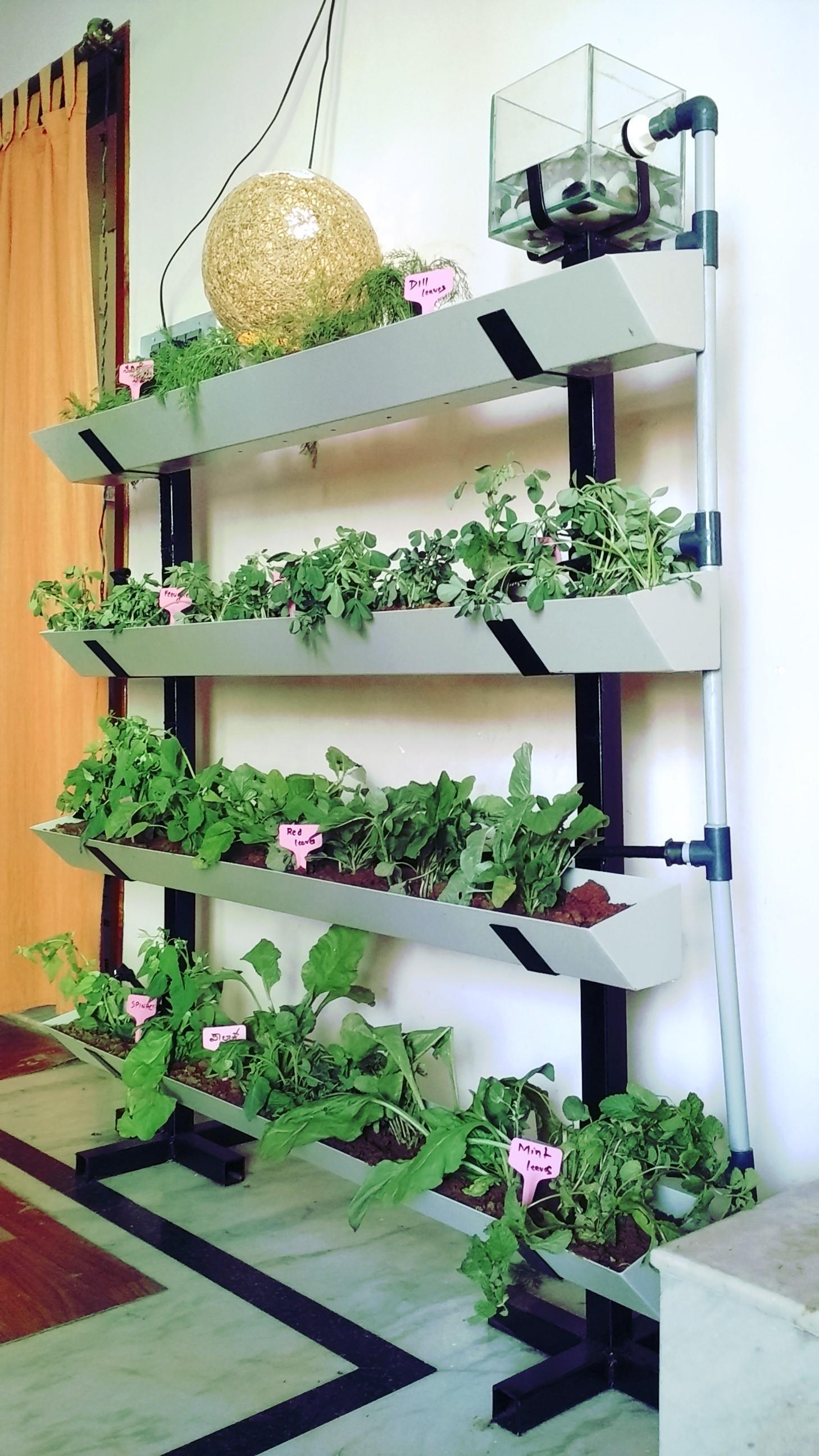 Vertical Garden 4 Row Setup   Eco Bin