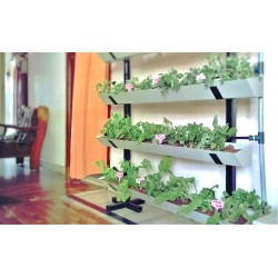 Vertical Garden 4 Row Setup